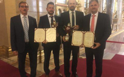 Magyar Termék Nagydíj átvétele a Parlamentben